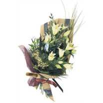 Bouquet of Cut Flowers with casablanca lilies